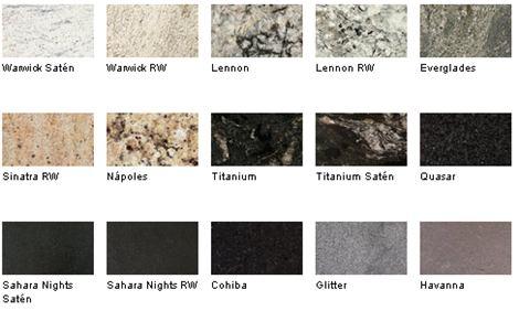 Encimeras de granito la nueva opci n al cuarzo for Colores marmoles cocina