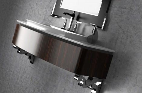 Mueble de baño organico, retro, decorativo en tendencia