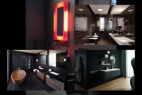 Baños negros y sofisticados  | Black and sophisticated bathrooms