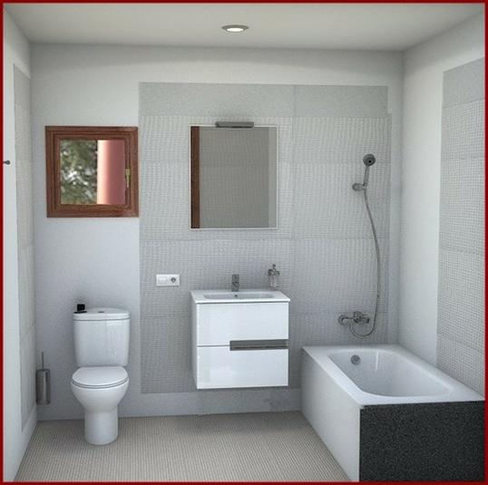 simulación baño