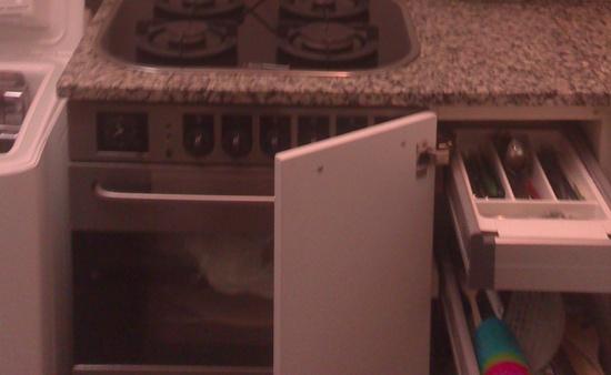 Una cocina vieja se puede actualizar